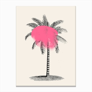 Tropical Tree Pink Canvas Print