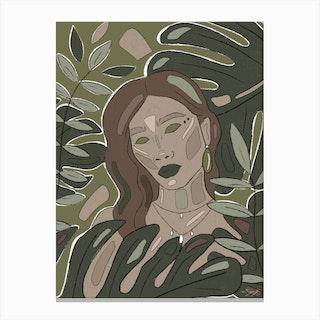 Green Jungle Dream Canvas Print