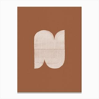 Geometric Object On Terracotta Canvas Print