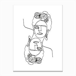 Frida Kahlo Double Canvas Print