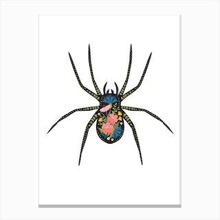 Floral Spider 2 Canvas Print
