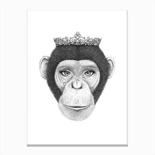 Monkey Queen Canvas Print