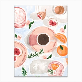Still Life With Coffee Canvas Print