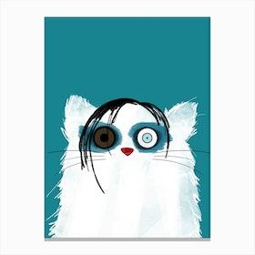 Cat Marilyn Manson Canvas Print