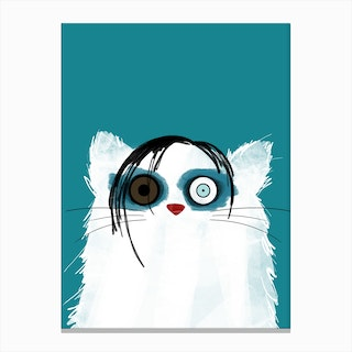 Cat Marilyn Manson Canvas Print
