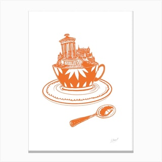 Calton Hill Teacup Canvas Print