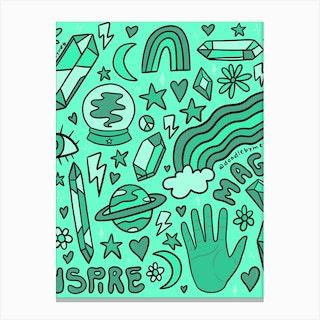 Turquoise Print Canvas Print
