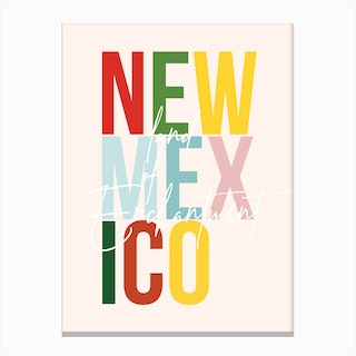 New Mexico Land Of Enchantment Color Canvas Print