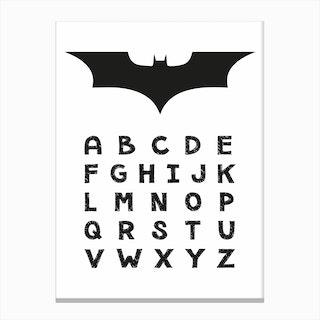Batman Alphabet Canvas Print