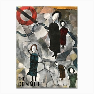 The Commute Crack In Time Canvas Print