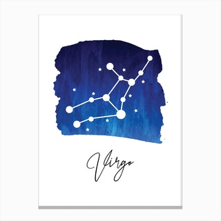 Virgo Zodiac Canvas Print