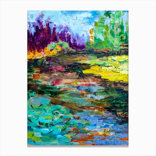 Landscape Hope Springs In Colors Canvas Print