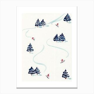 Skiiers Canvas Print