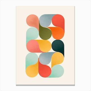 Bright Shapes Canvas Print