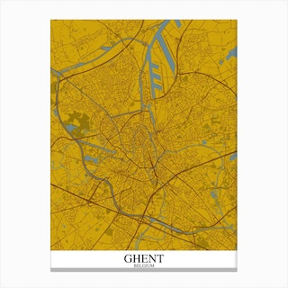 Ghent Yellow Blue Canvas Print