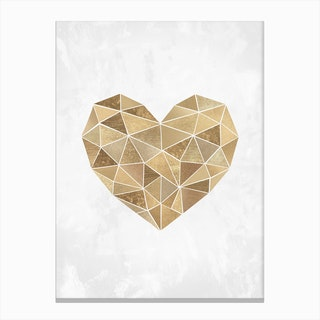 Mosaic Heart Canvas Print