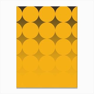 Circling Yellow Canvas Print