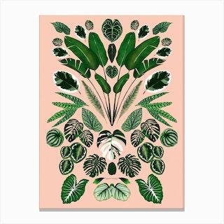 Leaf Caleidoscope Canvas Print