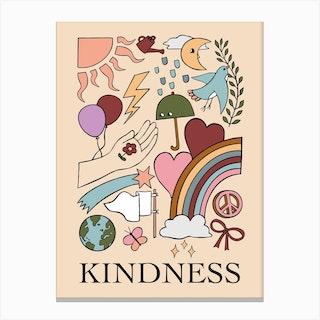 Kindness Blush Canvas Print