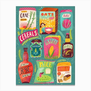 Colorful Cereal Chart Canvas Print