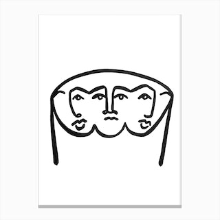 Merged Faces 1 Canvas Print