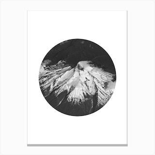 Landscapes Circular 4 Andes Canvas Print