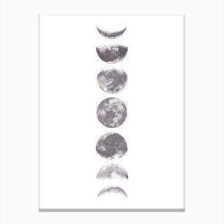 Moonphases Canvas Print