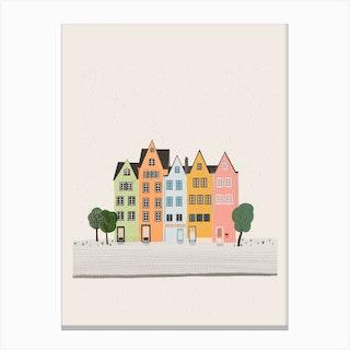 Colourful Neighbourhood Canvas Print