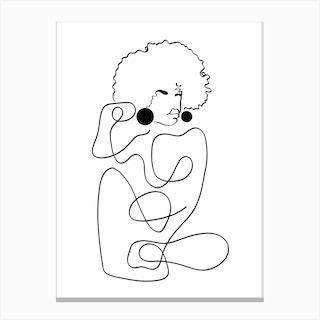 Matisse Noir Canvas Print