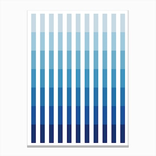Blue Up Canvas Print