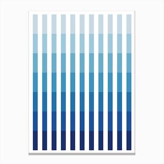 Blue Up Canvas Print