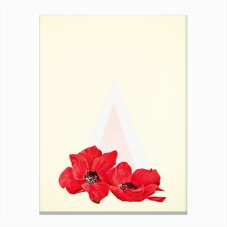 Floral Triangle Canvas Print