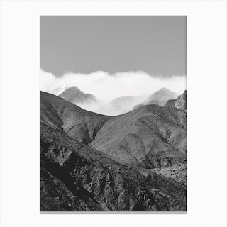 Clouds In The Mountains Canvas Print