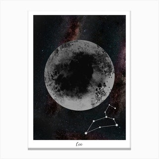 Zodiac Leo Canvas Print