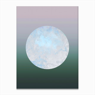 Metallic Moon Gradient Canvas Print