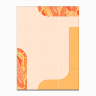 Mid Century Tropical Orange Mood Canvas Print