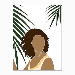Tropical Reverie Grace Canvas Print