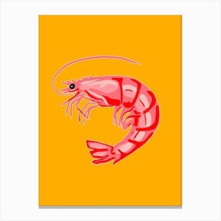 Large Shrimp Canvas Print