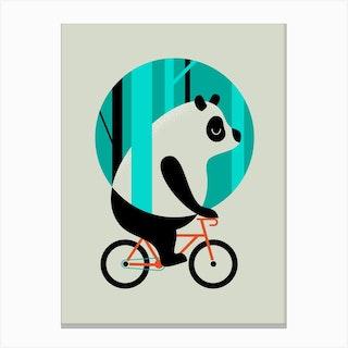 Panda Ride Canvas Print