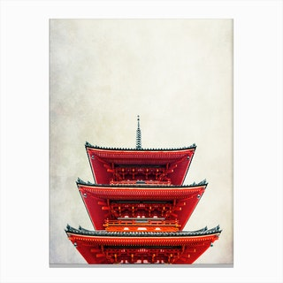Japanese Shrine Canvas Print