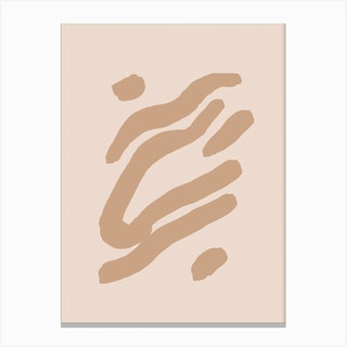 Abstract Composition With Beige Lines 05 Canvas Print