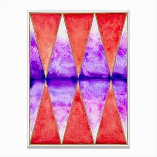 Sunset Diamonds Canvas Print