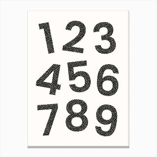 Dotty Numbers Canvas Print
