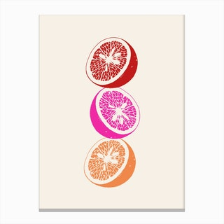 Pink Oranges Canvas Print