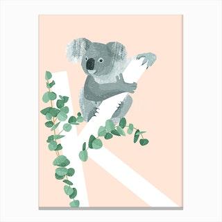 K Koala Canvas Print