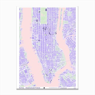New York Violet Canvas Print