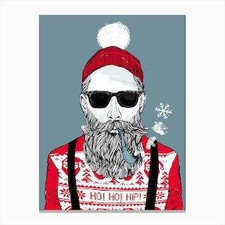 Christmas Hipster Canvas Print