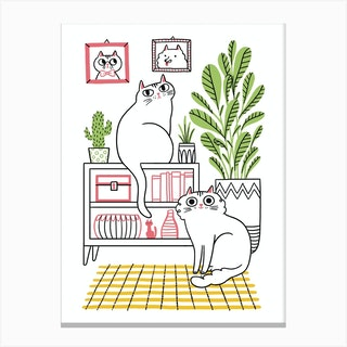 Cat Decor Canvas Print