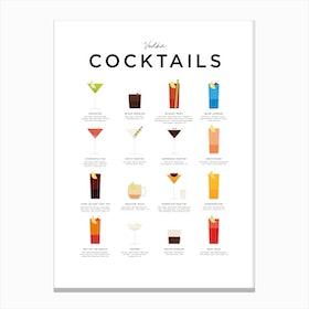 Vodka Cocktails Canvas Print