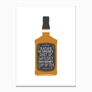 Whisky Shot Canvas Print